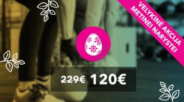 Šventinis pasiūlymas Tau – metinė narystė tik 120 eur!