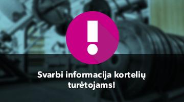 SVARBI INFORMACIJA VISIEMS FITCLUB 24/7 LANKYTOJAMS!